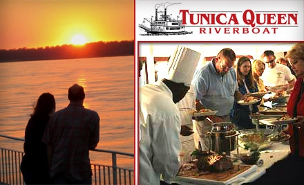 $50 for Two Dinner-Cruise Tickets to the Tunica Queen Riverboat