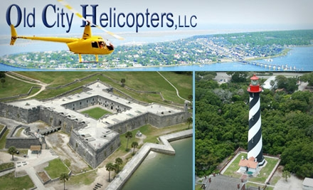 $149 Helicopter Tour for up to Three People from Old City Helicopters (Up to $255 Value)