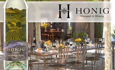 $15 for a Wine Tasting for Four People at Honig Vineyard & Winery ($40 Value)