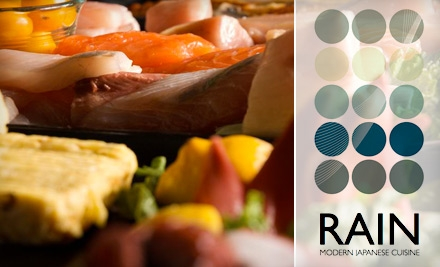 $24 for $50 Worth of Sushi, Sake, and More at Rain Sushi