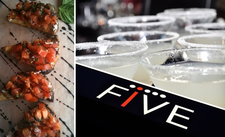 $10 for $25 Worth of Tasty Bistro Fare, Beverages, and More at Five Restaurant Bistro in Edmonds