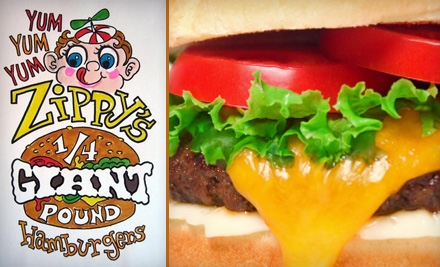 $7 for $15 Worth of Behemoth Chuck Burgers and Fries at Zippy's Giant Burgers and Fries