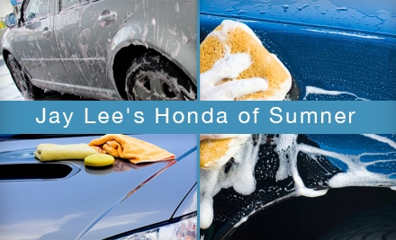 $39 for a Silver Detail Package ($89.95 Value) or $12 for a Diamond Wash ($29.95 Value) at Jay Lee's Honda of Sumner