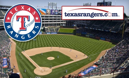 $10 for an Upper Reserved Ticket to a Texas Rangers Game ($20 Value). Choose from Two Dates.