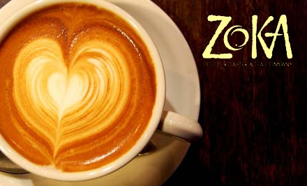 $5 for $10 Worth of Coffee and Tea (or $15 for $30 Worth of Online Coffee and Tea Products) at Zoka Coffee Roasters & Tea Company