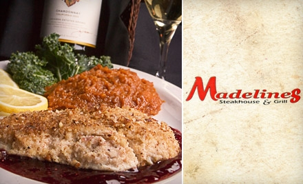 $15 for $30 worth of Savory Steaks, Seafood, and More at Madeline's Steakhouse & Grill