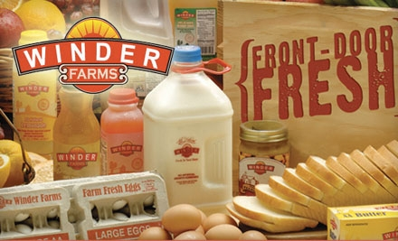 $20 for $50 Worth of Home-Delivered Groceries Plus Waived Sign-Up and Delivery Fees from Winder Farms ($68 Value)