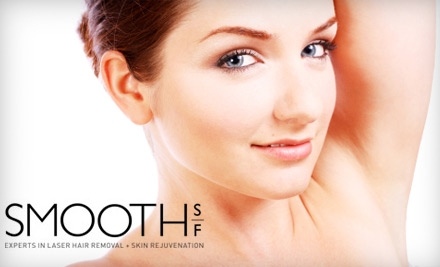 $150 for Three Laser Hair-Removal Treatments at SmoothSF (Up to $600 Value)