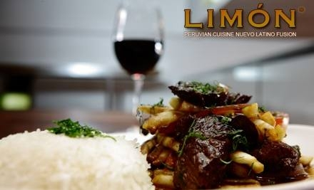 $20 for $40 Worth of Peruvian-Style Cuisine and Drinks for Lunch or Brunch at Limón