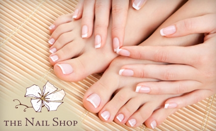 Mani-Pedi at The Nail Shop. Choose from Two Options