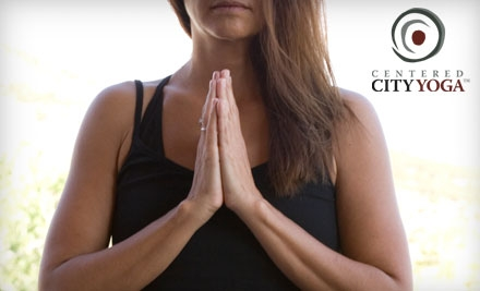 $40 for One Month of Unlimited Classes at Centered City Yoga ($125 Value)