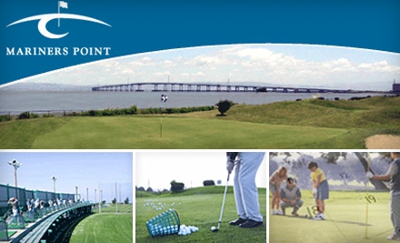 $33 for a $55 Range Card and a Round of Golf at Mariners Point in Foster City (Up to $66 Value)