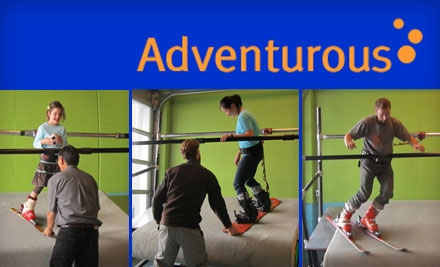 $65 for Two Indoor Skiing or Snowboarding Lessons at Adventurous Sports ($145 Value)