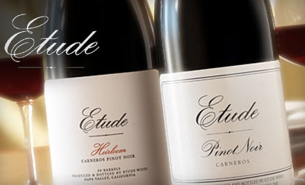 $35 for a Wine Tasting and Food Pairing for Two at Etude Wines in Napa ($70 Value)