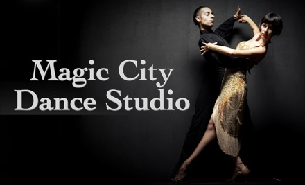 $12 for Three Private Dance Lessons, Three Group Lessons, and Three Practice Parties at Magic City Ballroom Dance Studio ($153.75 Value)