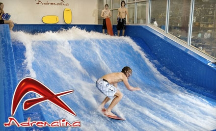 $20 for Two 30-Minute Indoor Wave Machine Sessions Plus 25% Off Retail Products at Adrenalina ($40 value)