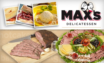 $4 for $10 Worth of Eats at Max's Delicatessen (or $35 for $75 Gift Card for Fare and Drink)