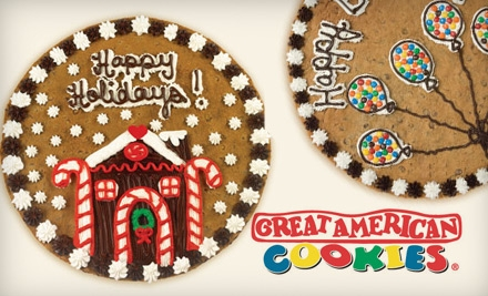 "$14 for a 16"" Round Cookie Cake From Great American Cookies ($30.51 value)"