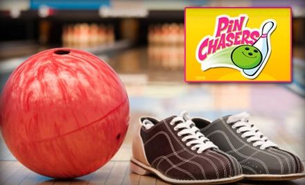 $19 for $40 Gift Card for Bowling, Food, and Arcade Games at Pin Chasers. Choose From Three Different Locations.