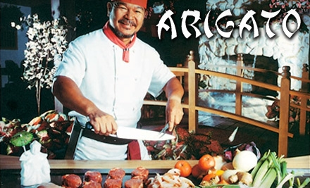 $15 for $30 Worth of Hibachi-Style Fare at Arigato Japanese Steak House