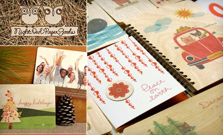 $10 for $20 Worth of Handmade Stationery and Gifts at Night Owl Paper Goods
