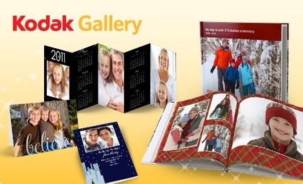 $10 for $20 Worth of Photo Books or Holiday Cards, Plus Four Free Accordion Desktop Calendars at KODAK Gallery