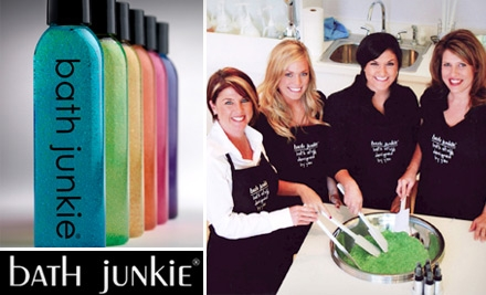 $20 for $50 of Custom-Blended Lotions, Bath Crystals, and More at Bath Junkie