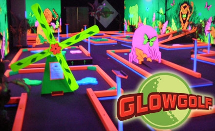 $6 for Two Child Passes ($12 Value) or $8 for Two Adult Passes ($16 Value) for Three Rounds of Mini-Golf at Glowgolf
