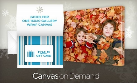 "$45 for One 16""x20"" Gallery-Wrapped Canvas Including Shipping & Handling (a $126.95 value) or a Gift Card worth $126.95"
