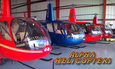 Helicopter Tour for Three People and a Matted, Framed Aerial Photo from Alpha Helicopters (Up to $319.96 Value). Choose from Three Options.