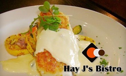 $15 for $30 Worth of Gourmet Fare and Drinks at Hay J's Bistro