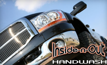 $35 for Two Full-Service Interior and Exterior Hand Car Washes, Two Exterior Treatments, and One Rain-X Treatment at Inside-n-Out Handwash ($73 Value)