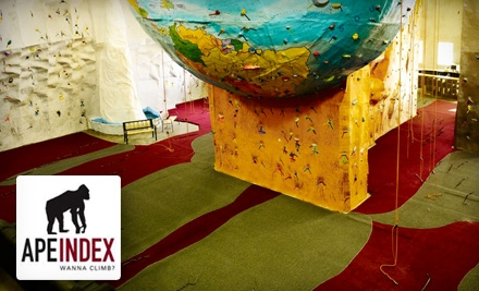 Phoenix: $10 for a Rock-Climbing Day Pass and Gear at Ape Index in Peoria ($20 Value)