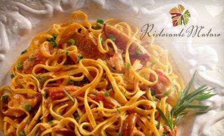 $15 for $30 Worth of Italian and Mediterranean Cuisine and Drinks at Ristorante Mataro in Menlo Park