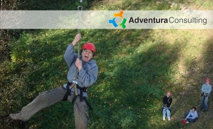 $49 for Ropes Challenge Course with Zipline Experience and Redhook Brewery Tour from Adventura in Woodinville ($108 Value)
