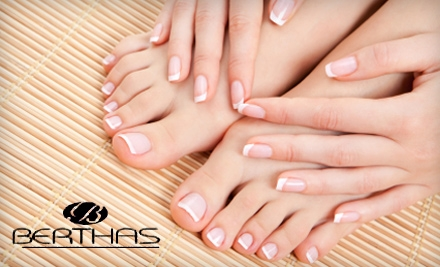 $40 for a Chocolate Spa Manicure and Spa Pedicure at Berthas European Spa
