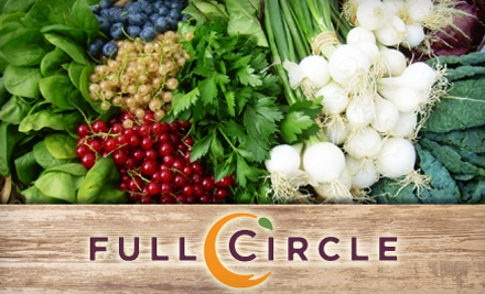 $16 for One Standard Box of Organic Produce with Pick-Up Option from Full Circle ($33 Value)