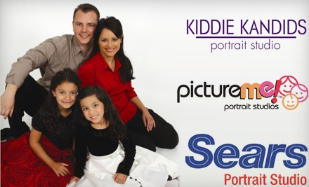 $10 for $25 Toward Products and Services at Sears Portrait Studio, Kiddie Kandids Studio, or Picture Me Portrait Studios.