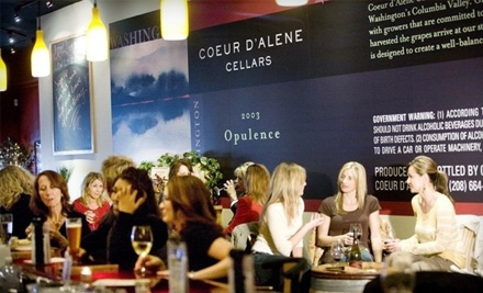 $10 for Wine Tasting and $16 Worth of Wine at Coeur d'Alene Cellars ($22 value)