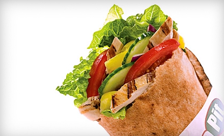 $5 for $10 Worth of Stuffed Pitas and Drinks at The Pita Pit