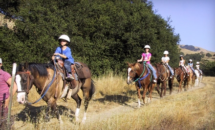 $30 for a Horseback Trail Ride for Two from Western Trail Riding Services in Sunol ($60 Value)