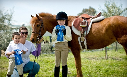 $30 for a 60-Minute Horseback-Riding Lesson at Sacred Cross Horse Services in Castro Valley ($60 Value)