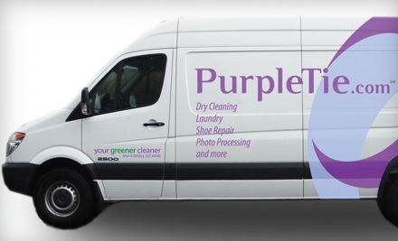 $15 for $30 Worth of Dry-Cleaning and Laundry Services with Pick-up and Delivery from PurpleTie in Redwood City