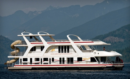 $700 for $1,400 Toward a Houseboat Rental at Waterway Houseboats in Sicamous