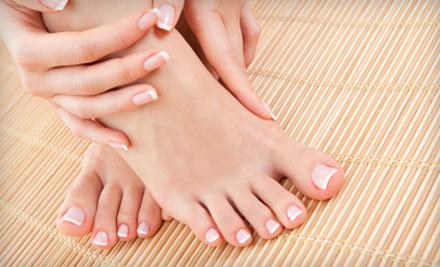 Pedicure or Mani-Pedi at The Nail Shop & The Lounge Nail Spa