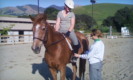 $75 for Two Horseback-Riding Lessons at Leap of Faith Farms in Walnut Creek ($150 Value)