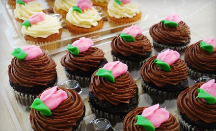 12 for a dozen cupcakes at betty janes bakeshoppe   24 value