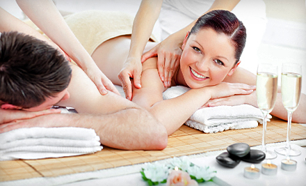 90-Minute Couples Massage Package or Couples Spa Package with Massage and Facial at World of Health (Up to 72% Off)