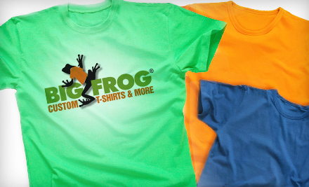 Portland daily deals groupon portland deals for february for Big frog custom t shirts