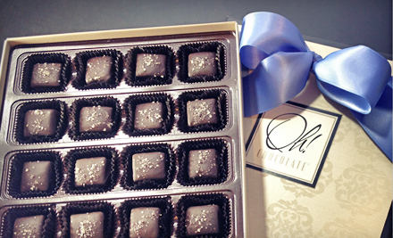 $13 for One Box of Fleur De Sel Caramel Chocolates at Oh! Chocolate ($26 Value)
